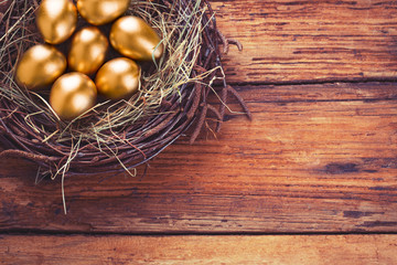 Easter gold eggs
