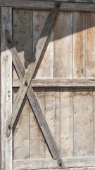 Holzscheune, Detail