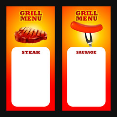 menu bbq steak and sausage