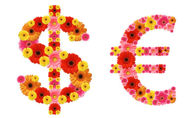 dollar and euro sign
