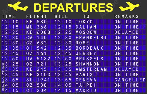 departures board - 77316438