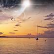 Beach planet landscape - 77317449