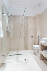 Luxury washroom in pastel colors