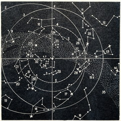 Star map of the northern sky