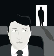 businessman & dark figure