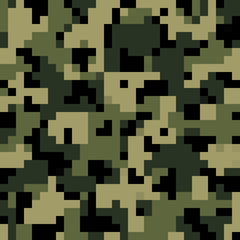 Blocky toy style camouflage pattern