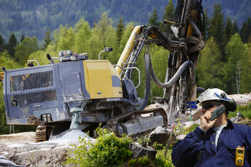 rock drilling machinery and civil engineering surveying