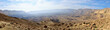 Panoramic view of Small Crater in Negev desert.