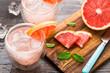 canvas print picture - Grapefruit cocktail