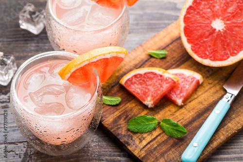 canvas print picture Grapefruit cocktail