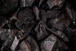 Coal lumps on dark background