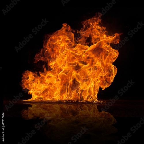 mata magnetyczna Piękne stylowe płomienie ognia