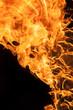 Beautiful stylish fire flames