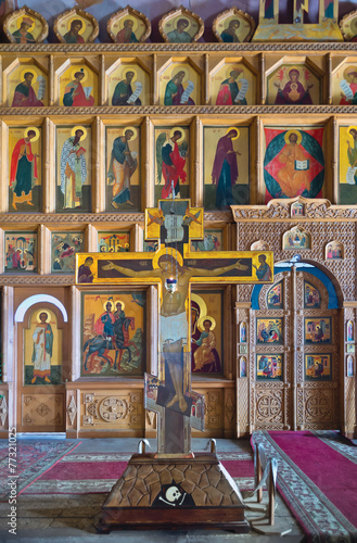 Interior of church in russian province - 77321025