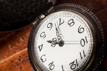 Closeup of pocket watch.