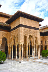 Moorish Alhambra Palace in Granada, Spain, tourism