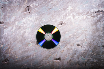 cd on a concrete background