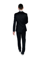 Business man walk away