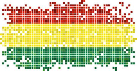 Bolivian grunge tile flag. Vector illustration