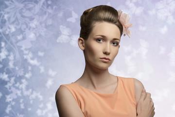 charming woman in beauty portrait