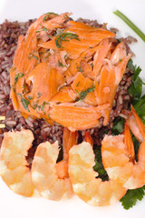 Red rice and shrimp