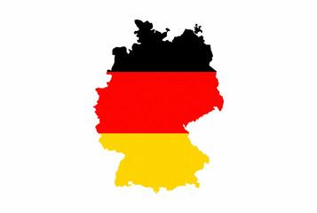 germany flag map