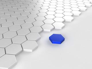 Different blue hexagon