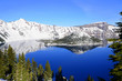 Winter reflection at Crater Lake Oregon