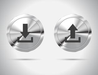 Download Upload Button. Vector illustration.