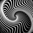 Whirlpool illusion. Abstract op art  illustration.