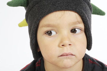 baby portrait with funny hat
