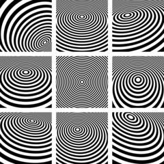 Abstract circular backgrounds set.