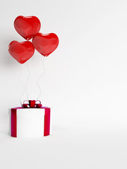gift and the balloons