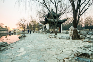 Small pavilion in Taoranting Park in Xuanwu District, Beijing