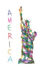 statua della libertà astratta