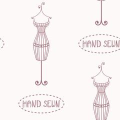 Iron mannequin seamless pattern