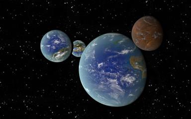 3D Earth like planets