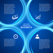 business presentation template blue background cover page