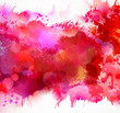 Bright watercolor stains with red blots - 77329855