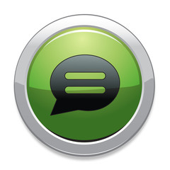 Chat Sign Icon / Green Button