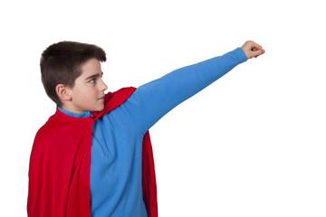 superman isolated on white background