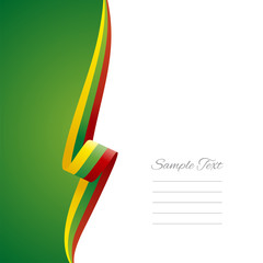 Lithuania left side brochure cover vector