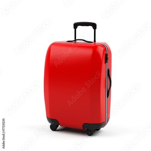 Suitcase isolated on white background - 77331230
