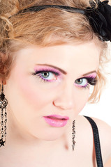 Blonde with fancy make-up