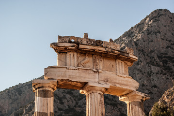 Temple of Athena in delphi - detail