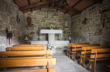 Santa Marta church in Galicia - Spain