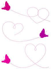 Butterflies Making Hearts