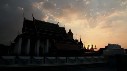 Stock Video Footage 1920x1080 Bangkok Wat Ratchanatdaram HDV