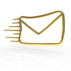 Golden mail icon