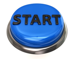 Blue glossy start button